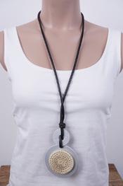 Garde-robe - Halsketting - Zwart-grijs