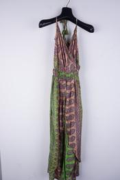 Garde-robe - Lang kleed - Groen-roze