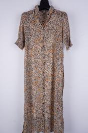 Soya - Lang kleed - Zwart-beige