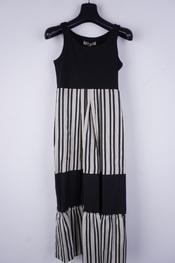 Rinascimento - Lang kleed - Zwart-beige