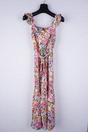 Amelie-amelie - Lang kleed - Oranje-paars