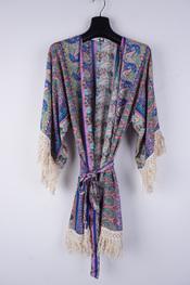 Garde-robe - Kimono - Blauw-roze