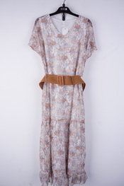 Senso - Lang kleed - Blauw-beige