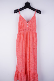 Amelie-amelie - Lang kleed - Coraal