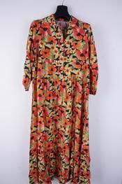 Garde-robe - Lang kleed - Zwart-roze