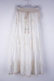 Garde-robe - Lange Rok - Ecru