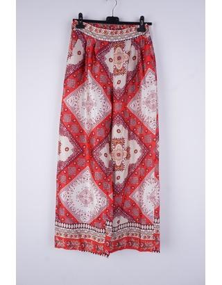 Garde-robe - Lange Broek - Beige-rood