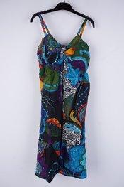 Garde-robe - Halflang Kleedje - Zwart-blauw