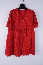 Garde-robe - Halflang Kleedje - Rood