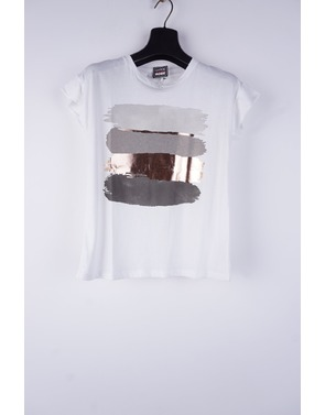 Garde-robe - T-shirt - Wit-grijs