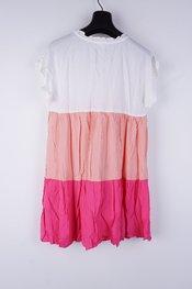 Garde-robe - Halflang Kleedje - Wit-roze