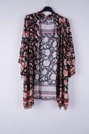 Garde-robe - Gilet - Zwart-roze