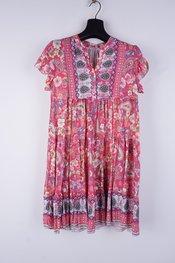 Garde-robe - Halflang Kleedje - Fushia