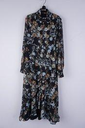 Senso - Lang kleed - Zwart-blauw