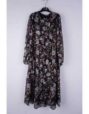 Senso - Lang kleed - Zwart-beige