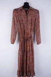 Amelie-amelie - Lang kleed - Donker oranje