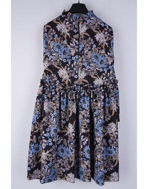 Rinascimento - Halflang Kleedje - Zwart-blauw