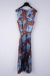 Rinascimento - Halflang Kleedje - Blauw-bruin