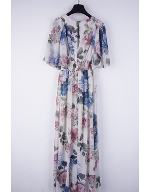 Rinascimento - Lang kleed - Blauw-beige