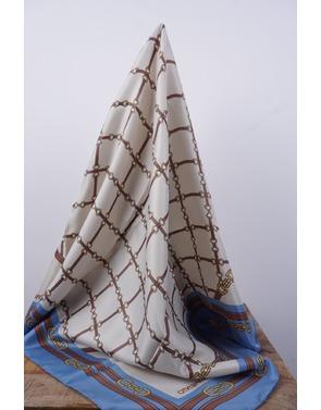 Rinascimento - Sjaals - Blauw-beige