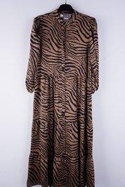Garde-robe - Lang kleed - Zwart-bruin