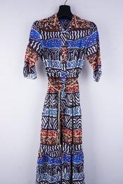 Garde-robe - Lang kleed - Zwart-blauw