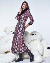 K-design - Lang kleed - Zwart-bruin