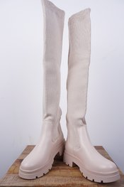 Garde-robe - Lange Laarzen - Beige