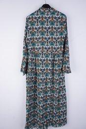 Garde-robe - Lang kleed - Zwart-groen