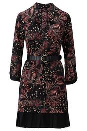 K-design - Halflang Kleedje - Zwart-rood