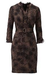 K-design - Halflang Kleedje - Zwart-bruin