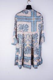 Garde-robe - Halflang Kleedje - Blauw-beige