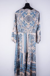 Garde-robe - Lang kleed - Blauw-beige