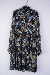 Senso - Halflang Kleedje - Zwart-blauw