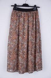 Soya - Lange Rok - Beige-bruin