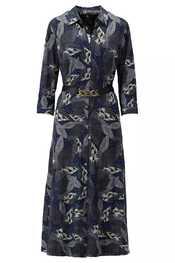 K-design - Halflang Kleedje - Zwart-blauw
