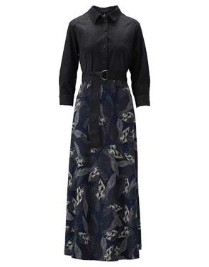 K-design - Lang kleed - Zwart-blauw