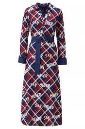 K-design - Lang kleed - Blauw-rood