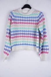 Garde-robe - Pull - Blauw-roze
