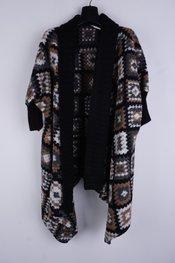 Garde-robe - Gilet - Zwart-beige