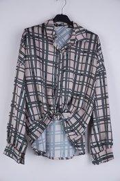 Garde-robe - Blouse - Beige-groen