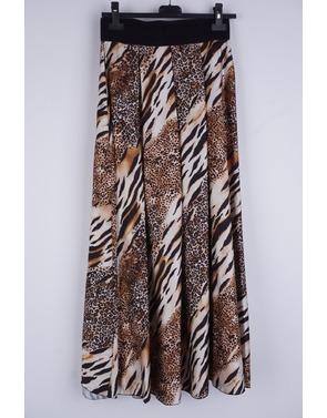 Garde-robe - Lange Rok - Zwart-beige