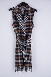 Garde-robe - Gilet - Zwart-bruin