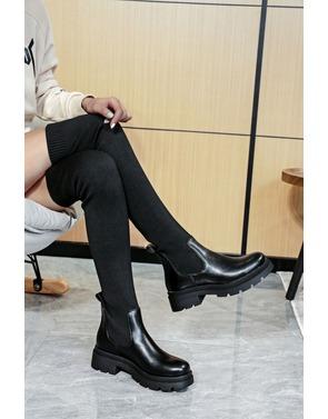 Garde-robe - Lange Laarzen - Zwart