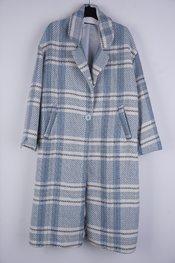 Garde-robe - Mantel - Wit-blauw