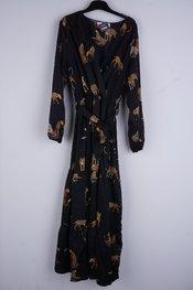 Garde-robe - Lang kleed - Zwart-beige
