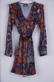 Garde-robe - Kort Kleedje - Blauw-rood