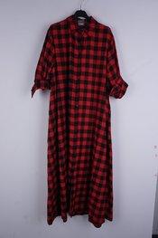 Garde-robe - Lang kleed - Zwart-rood