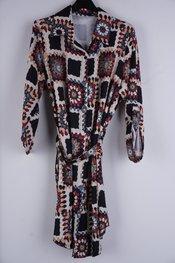 Garde-robe - Kort Kleedje - Zwart-beige