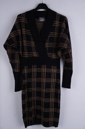 Garde-robe - Kort Kleedje - Zwart-bruin